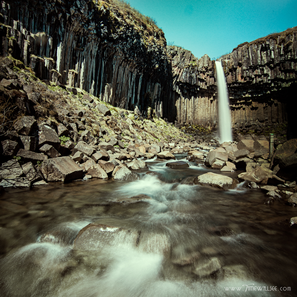 12:30 The utmost basalt column waterfall, Svartifoss